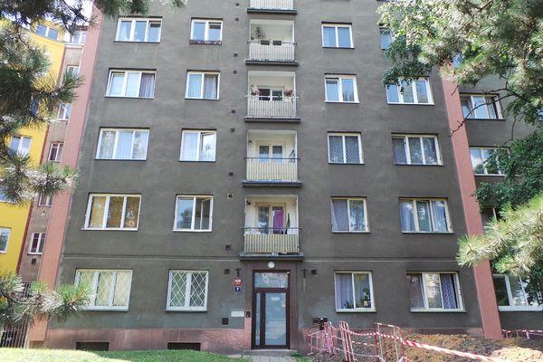Praha-msto - Spdov msta (pouita ern barva) a